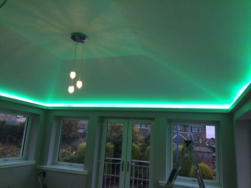 Electrical projects gallery optical lighting armadale sunroom multi colour led strip lighting aloadofball Images